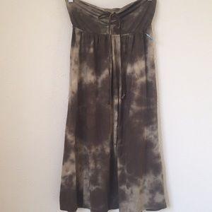 Eco organic tie dye soft strapless dress/skirt.